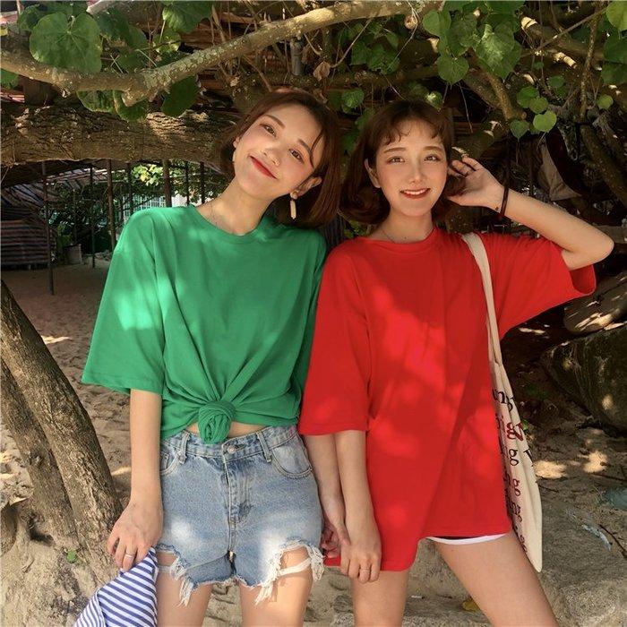 夏季女裝短袖T恤 春夏季新款學院風女裝韓版百搭短袖網紅T恤寬松打底衫上衣潮