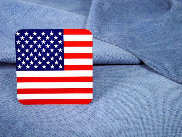 【國旗貼紙專賣店】美國方形登機行李箱貼紙/抗UV防水/旅行箱/世界多國可收集訂製