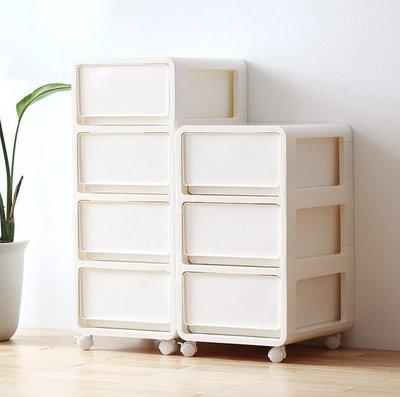 『格倫雅』簡約抽屜式收納櫃塑膠收納櫃子床頭櫃整理箱多層抽屜櫃儲物 65906^1661