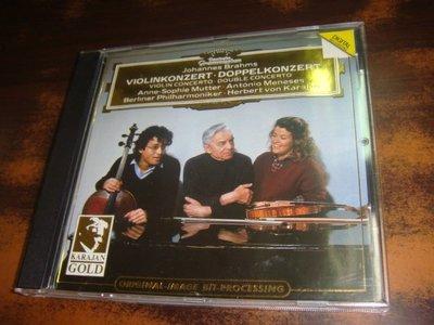 年輪書房 Karajan 卡拉揚 Mutter 慕特 Brahms 布拉姆斯 小提琴協奏曲 雙重協奏曲 柏林愛樂 DG