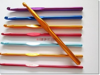 毛線編織~金彩單頭鉤針組~共13隻針號...