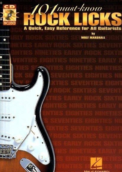 反拍樂器   101 must know rock licks 電吉他教材