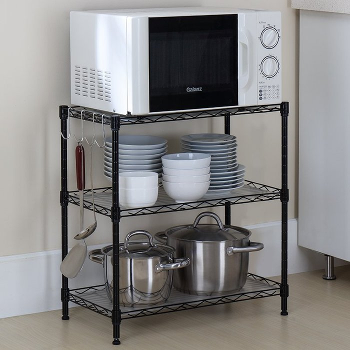 家居收納 廚房收納架 置物架新品新品廚房衛生間收納整理層新架客新廳辦公室宿舍落地多層小收納架D02B2