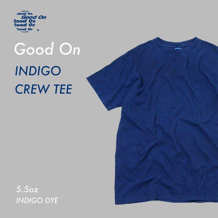 WaShiDa【GOST-701I】Good On 日本品牌 藍染 5.5 oz 美國棉 素面 自然色落 短袖 T恤