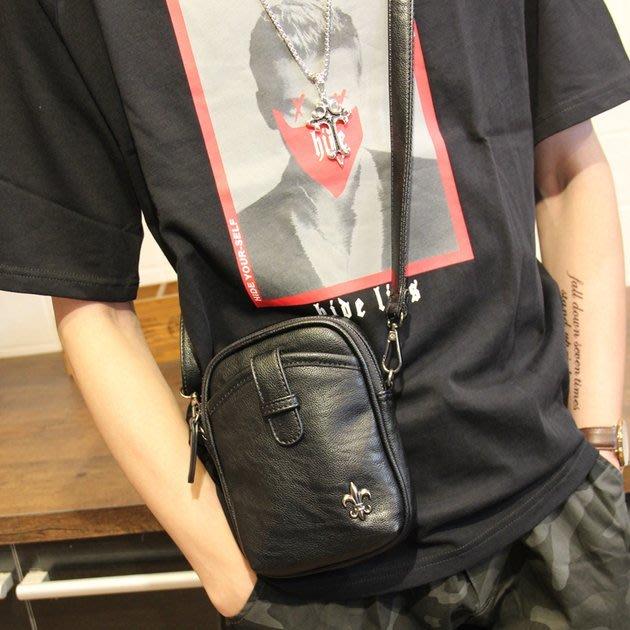 FINDSENSE 韓國男包 G6 男用休閒包 男士單肩包手機包小背包戶外運動騎行斜跨包潮流皮質時尚大容量男包包
