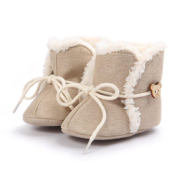 森林寶貝屋~可愛小熊雪靴~學步鞋~保暖鞋~寶寶鞋~嬰兒鞋~童鞋~學走鞋~綁帶設計~彌月贈禮~特價1雙135元