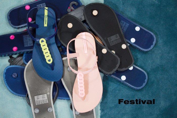 嘉年華 巴西人字鞋 Ipanema 鎖鍊可愛夾腳涼鞋