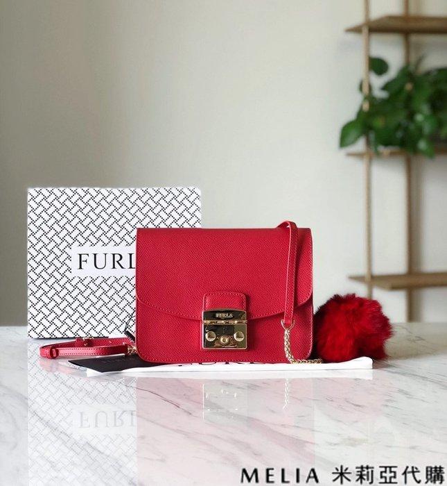 Melia 米莉亞代購 商城特價 數量有限 每日更新 19ss FURLA 芙拉 單肩斜背包 中號 送兔毛吊飾 紅色