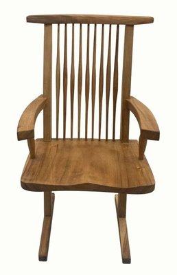 【樂居二手家具館】中古傢俱 DNA615HE*雨豆木扶手餐椅 餐桌*中古辦公家具買賣 會議桌椅 滿千送百豐富喜悅苗栗彰化
