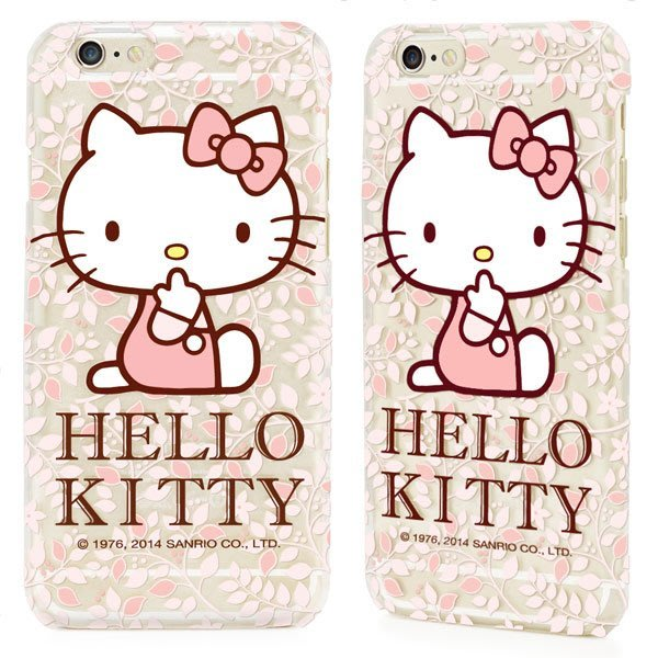 GARMMA Hello Kitty 三麗鷗授權 iPhone 6/6S Plus 5.5吋保護硬殼-花漾款