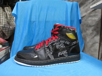 AIR JORDAN 1 HIGH THE HOF 371498-012 US9 AJ1 亮皮黑紅 名人堂