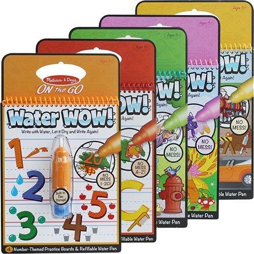 【M&B 幸福小舖】美國梅莉莎 Melissa & Doug Water Wow神奇水畫冊 水畫筆 水畫板 水畫本