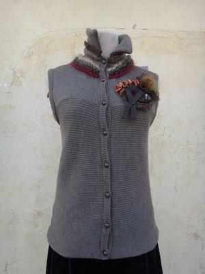 jacob00765100 ~ 正品 設計師 REINE 漢諾 咖啡色 美麗諾羊毛背心 size: M