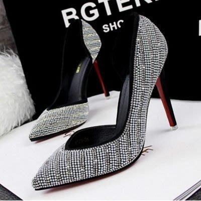 尖頭高跟鞋 水晶婚鞋-多色可選水鑽吸睛女鞋子6色73e18[獨家進口][米蘭精品]