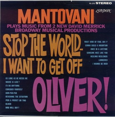Mantovani – Stop The World I Want To Get Off Oliver