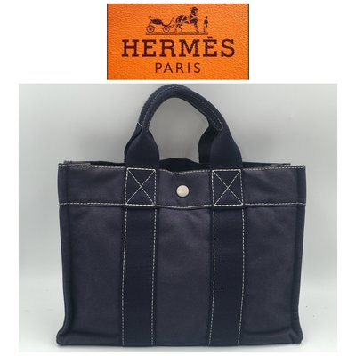 【皮老闆二店】 二手真品 Hermes 愛馬仕 凡布包 手提包 電腦包 E02