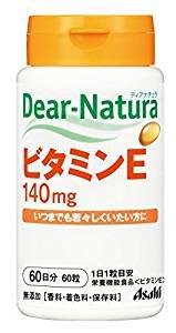 日本朝日食品 Asahi Dear Natura 維他命 E60日 鐵 30日