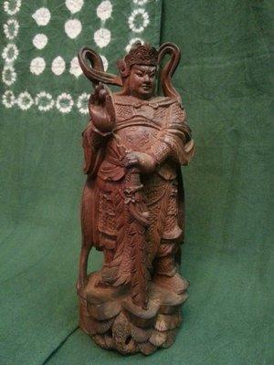 @@六合堂@@50年印度老山檀香~韋馱菩薩藝術雕件 ~~優惠中