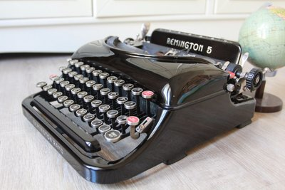 Remington Streamline 手提式流線型打字機 古董 老件