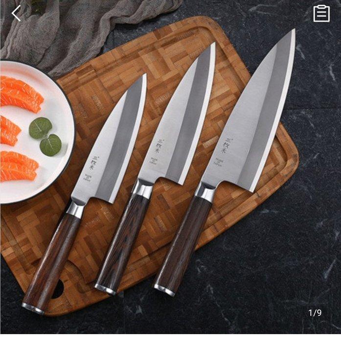 C.三枚禾日式魚刀出刃;嚇死人的德國鋼...嚇死人的made in Japan
