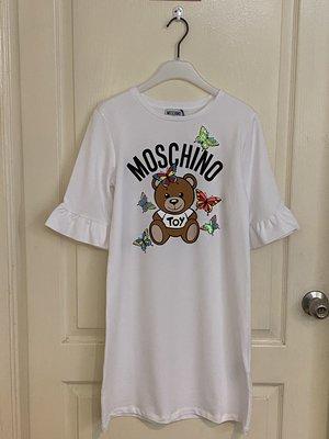 全新 Moschino TEEN frill sleeve T-shirt dress 14A  現貨一件