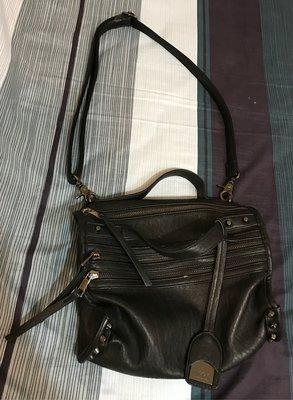 現貨 LIPPY 黑色機車包包 側背包 斜背包 手拿包