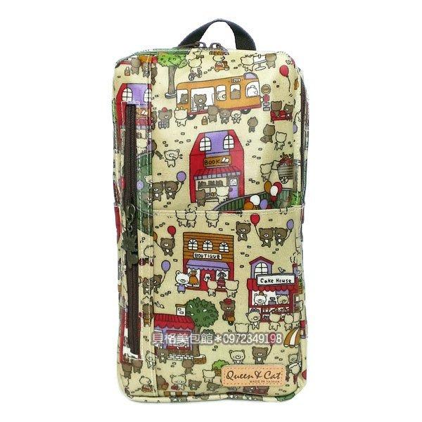 【出清】貝格美包館 單肩後背包 咖熊樂 Queen&Cat 防水包 後背包 另有水壼袋