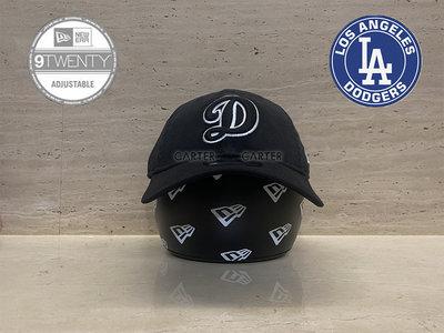 New Era x MLB LA Dodgers 9Twenty 美國大聯盟洛杉磯道奇黑底白字 D 水洗軟帽老帽