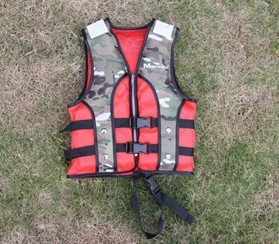 車車代購 Manner兒童救生衣QP6515迷彩/浮力衣(帶跨帶) 橡皮艇/學泳專配潛水裝備