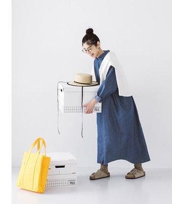 現貨 日系 人氣單品 早秋新品 一件搞定 日常著用 大口袋 丹寧 牛仔 襯衫 長洋裝 &yarn可參考