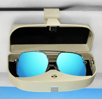 升級車用眼鏡票據收納盒【NF561】附磁鐵 車載眼鏡盒太陽鏡收納盒遮陽板鏡盒票據夾