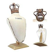 〖洋碼頭〗美國鏽感復古舊皇冠模特兒擺件首飾陳列櫥窗展示拍攝道具現貨 shx191