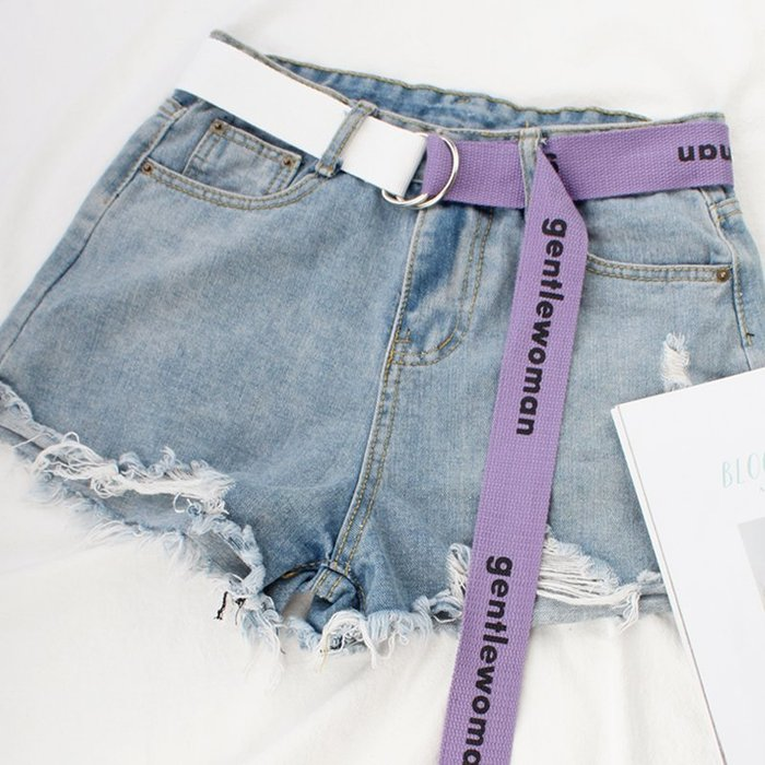 腰帶 褲帶 帆布腰帶女士字母皮帶簡約百搭潮流韓國韓版新款學生裝飾 皮帶 腰封 服飾配件