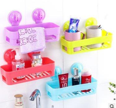 艾莉小舖~洗手間廚房衛生間置物架強力吸盤浴室置物架 壁掛浴室角架