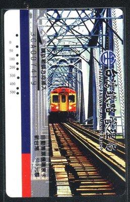 ☆愛蜜麗的收藏世界☆【鐵路票卡】鐵路自動售票機購票卡─ 行駛大橋 1 全