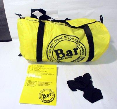 全新,麒麟 Bar BEER 圓筒 輕薄型 背提 摺疊運動包,旅行袋,旅遊備用包