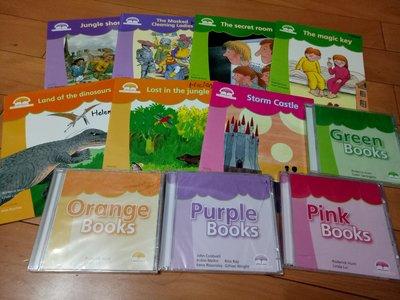 敦煌書局Oxford Story Tree8本書+4片CD.Green books.orange.purle. pink