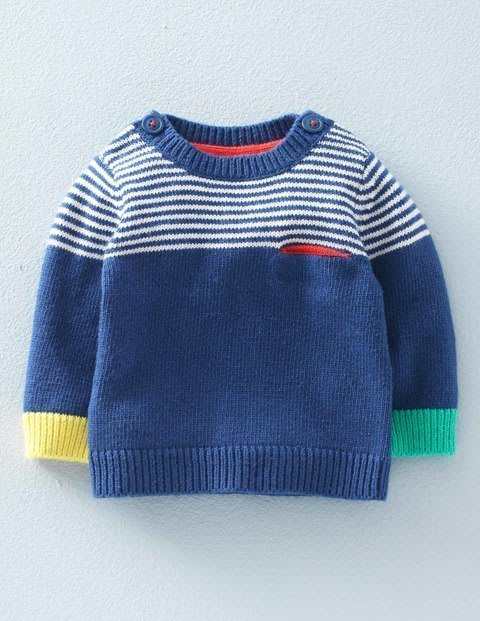 * Dou Dou House *英國進口Mini Boden童裝/藍色休閒毛衣 上衣(現貨)