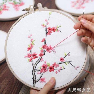 刺繡 孕婦手工創意成人材料包歐式古風絲帶繡蘇繡初學  ZJ688