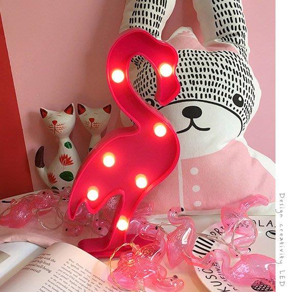 【鉛筆巴士】現貨! LED火鶴燈 3號電池 拍照道具紅鶴火烈鳥床頭燈夜燈聖誕節交換禮物生日檯燈裝飾設計款K1610019