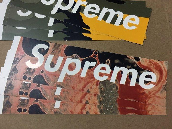 【超搶手】全新正品2017 Supreme Serrano Blood and Semen Sticker 血 防水貼紙