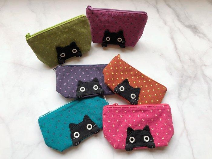 日本卡拉貓~可愛大眼貓防水零錢包 錢包 收納包