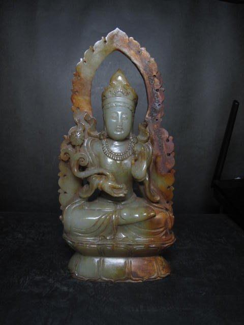 老和闐玉雕◎  西藏觀音   非壽山石