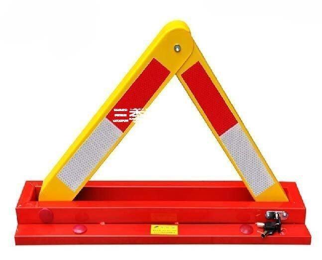 三季西力特加厚車位鎖地鎖A型停車位地鎖汽車槽鋼三角占位停車鎖防撞❖896