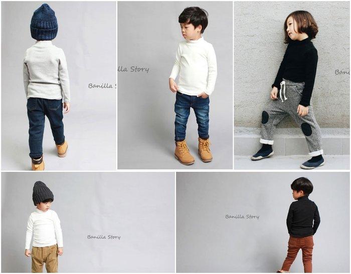 《正韓童裝》Banilla story 新款冬裝 素色百搭彈性保暖高領上衣(現貨免等+滿千免運)
