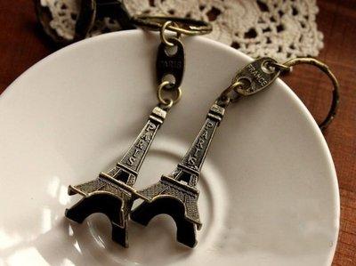 韓版 Paris 古銅色巴黎鐵塔 艾菲爾鐵塔造型 浪漫之都鋅合金金屬鑰匙圈 美劇越獄 Prison break同款