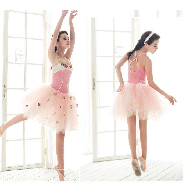 5Cgo【鴿樓】會員有優惠 38678802519 芭蕾舞蹈裙 成人+兒童紗裙蓬蓬裙芭蕾比賽服演出服 芭蕾舞衣