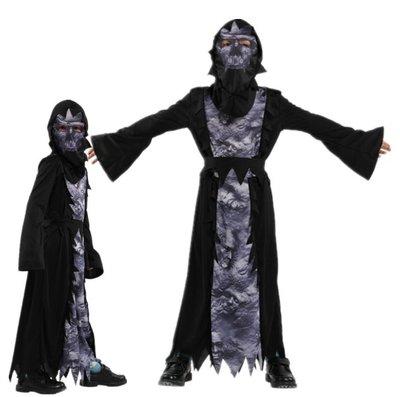 乂世界派對乂 萬聖節服裝,萬聖節服裝/萬聖節長袍/死神袍/3d鬼袍/恐怖骷髏使者裝