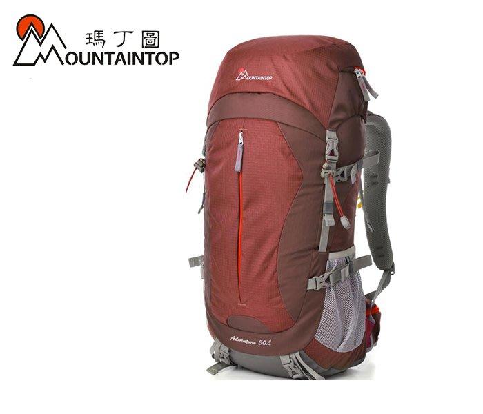 丹大戶外用品 瑪丁圖【Mountaintop】超耐透氣登山包 /輕量登山包50L MPA5818 磚紅