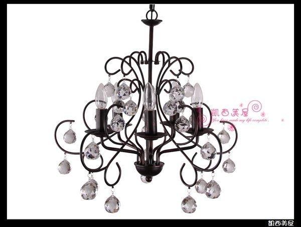 凱西美屋 美式家居經典鍛鐵水晶吊燈 複刻進化版
